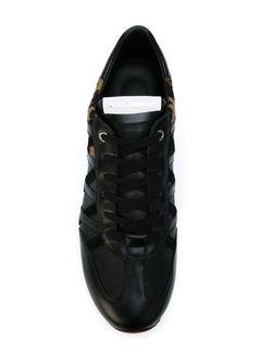 Кроссовки С Панелями С Леопардовым Принтом Dolce & Gabbana                                                                                                              чёрный цвет