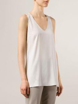 Майка С U-Образным Вырезом Brunello Cucinelli                                                                                                              белый цвет
