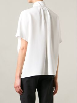 Блузка С Завязкой На Мягкий Бант Gianluca Capannolo                                                                                                              белый цвет