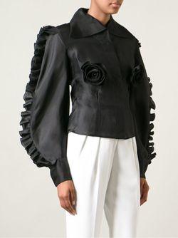 Рубашка С Рюшами CHRISTIAN LACROIX VINTAGE                                                                                                              черный цвет