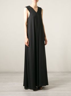 Длинное Платье C V-Образным Вырезом Opening Ceremony                                                                                                              черный цвет