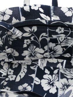 Сумка-Тоут С Принтом Гибискуса LUISA CEVESE RIEDIZIONI                                                                                                              синий цвет