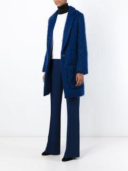 Однобортное Пальто MSGM                                                                                                              синий цвет