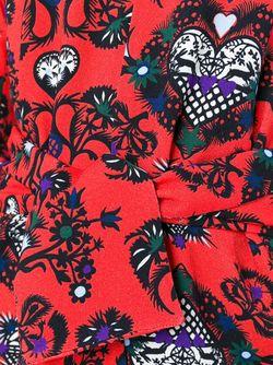 Hearts Print Blouse MSGM                                                                                                              красный цвет