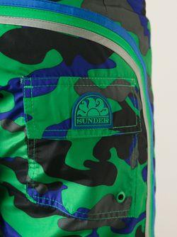 Шорты Для Плавания С Камуфляжным Принтом Sundek                                                                                                              зелёный цвет