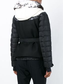 Дутая Куртка С Воротником Из Меха Кролика Moncler Grenoble                                                                                                              черный цвет