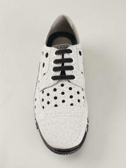 Перфорированные Кроссовки Dolce & Gabbana                                                                                                              белый цвет