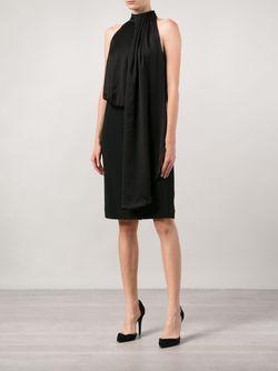 Драпированное Платье Без Рукавов Ports                                                                                                              черный цвет