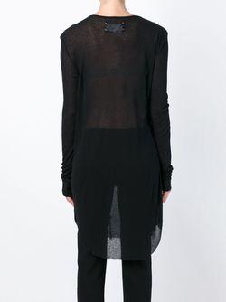 Длинный Топ С Оборками Maison Margiela                                                                                                              черный цвет