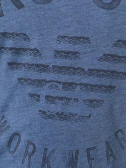 Футболка С Принтом Логотипа ARMANI JEANS                                                                                                              синий цвет