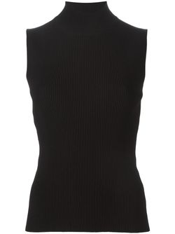 Ribbed Turtle Neck Sleeveless Sweater Cedric Charlier                                                                                                              чёрный цвет