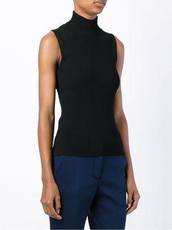 Ribbed Turtle Neck Sleeveless Sweater Cedric Charlier                                                                                                              черный цвет