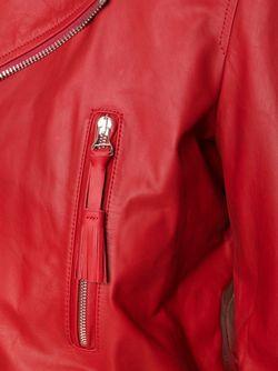 Байкерская Куртка С Кисточками OFF-WHITE                                                                                                              красный цвет