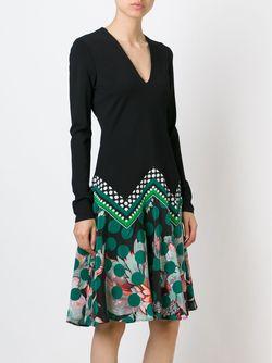 Платье C V-Образным Вырезом Roberto Cavalli                                                                                                              черный цвет