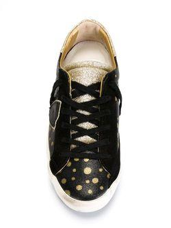 Кроссовки С Узором В Горох Philippe Model                                                                                                              чёрный цвет