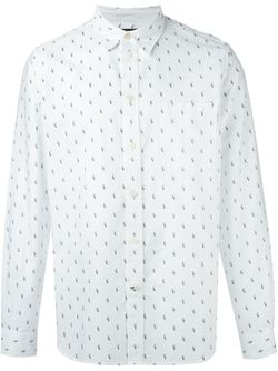 Рубашка С Мелким Принтом Paul Smith Jeans                                                                                                              белый цвет