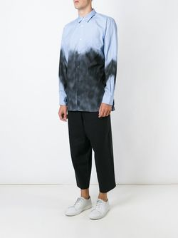 Spray Painted Shirt Comme Des Garcons                                                                                                              синий цвет