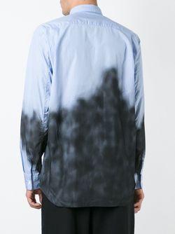 Spray Painted Shirt Comme Des Garcons                                                                                                              синий цвет