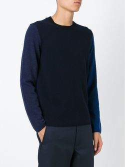 Свитер С Панельным Дизайном Comme Des Garcons                                                                                                              синий цвет