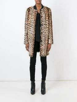 Пальто С Леопардовым Принтом Yves Salomon                                                                                                              Nude & Neutrals цвет