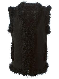 Меховой Жилет METEO BY YVES SALOMON                                                                                                              черный цвет