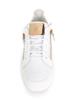 Кеды На Молнии Giuseppe Zanotti Design                                                                                                              белый цвет