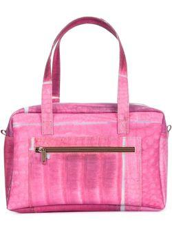 Структурированная Сумка-Тоут С Геометрическим Принтом LUISA CEVESE RIEDIZIONI                                                                                                              розовый цвет