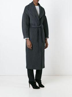 Свободное Пальто С Запахом By Malene Birger                                                                                                              серый цвет