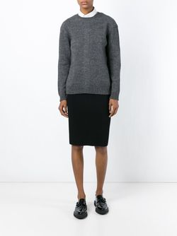 Back Buttoned Sweater No21                                                                                                              серый цвет