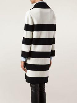 Двубортное Пальто В Полоску BOUTIQUE MOSCHINO                                                                                                              черный цвет