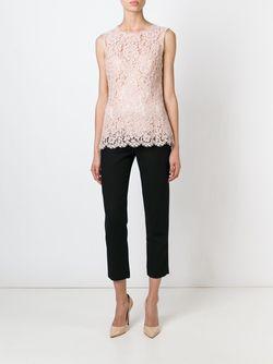 Топ С Цветочным Кружевом Dolce & Gabbana                                                                                                              розовый цвет