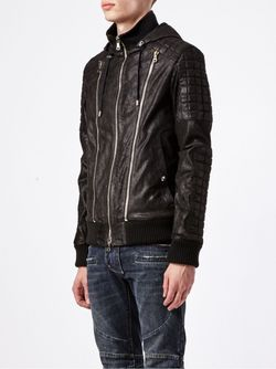 Куртка С Молниями Balmain                                                                                                              черный цвет