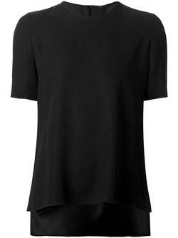 Блузка С Неравномерным Подолом Adam Lippes                                                                                                              чёрный цвет
