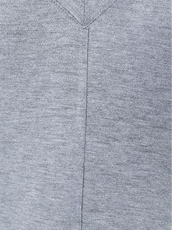Топ Свободного Кроя C V-Образным Вырезом Helmut Lang                                                                                                              серый цвет