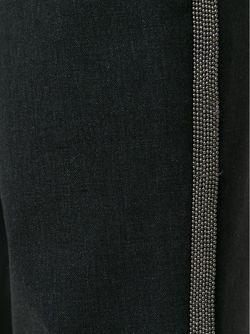 Укороченные Брюки С Бисерной Окантовкой Brunello Cucinelli                                                                                                              серый цвет