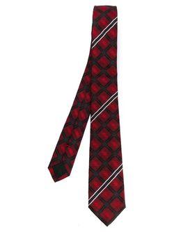 Галстук В Клетку Givenchy                                                                                                              красный цвет