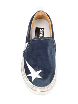 Кеды Слип-Он Sea Star Golden Goose                                                                                                              синий цвет