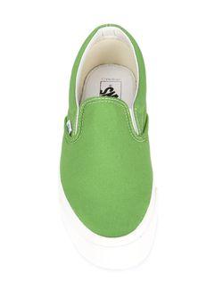 Классические Кеды Слип-Он Vans                                                                                                              зелёный цвет