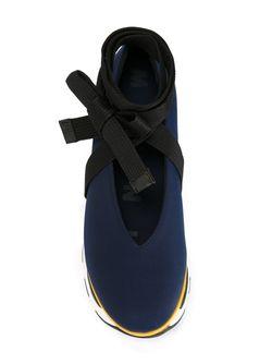Кроссовки На Платформе В Стиле Колор-Блок Marni                                                                                                              синий цвет
