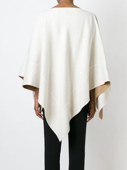 Драпированное Пончо Agnona                                                                                                              белый цвет