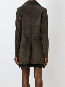 Двубортное Пальто Marni                                                                                                              коричневый цвет