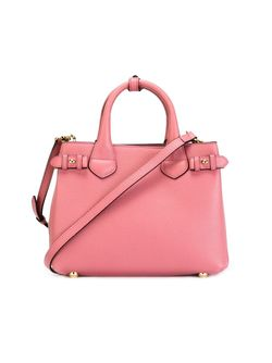 Маленькая Сумка-Тоут Banner Burberry                                                                                                              розовый цвет