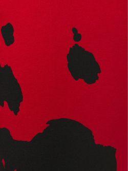 Брюки Кроя Скинни С Коровьим Принтом BOUTIQUE MOSCHINO                                                                                                              красный цвет