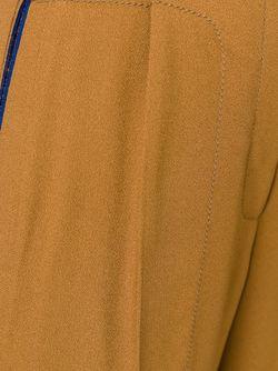 Укороченные Брюки Со Складками Спереди Marco De Vincenzo                                                                                                              коричневый цвет
