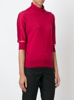 Свитер С Прозрачными Панелями Lanvin                                                                                                              красный цвет