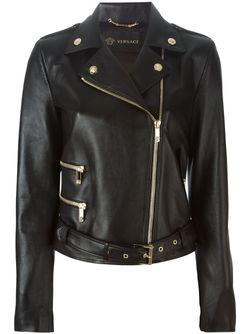 Байкерская Куртка Versace                                                                                                              черный цвет
