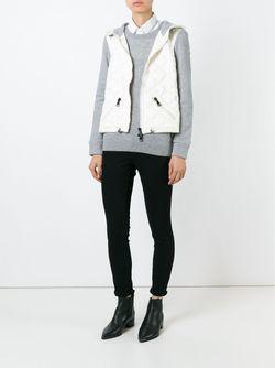 Куртка С Дутой Вставкой Moncler                                                                                                              белый цвет