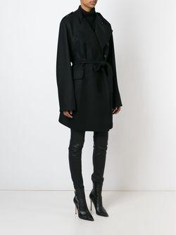 Пальто С Поясом Ann Demeulemeester                                                                                                              черный цвет