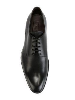 Туфли-Дерби С Закругленным Носком Ermenegildo Zegna                                                                                                              черный цвет