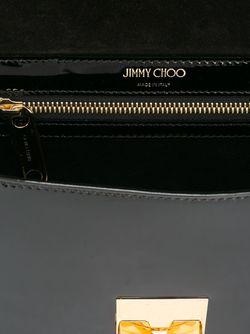 Лакированная Сумка Через Плечо Lockett Jimmy Choo                                                                                                              чёрный цвет